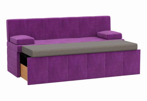 Кухонный прямой диван Лео Фиолетовый (Микровельвет) - фото 2