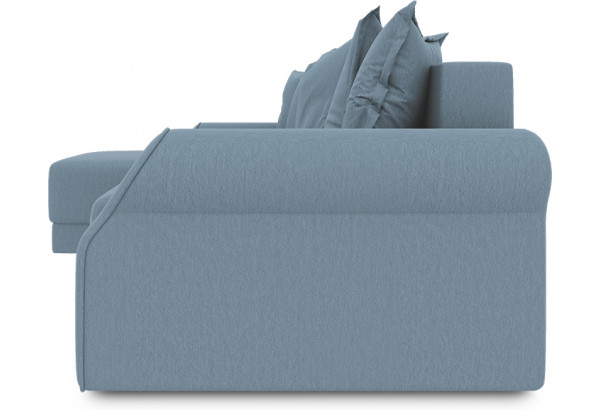 Диван угловой левый «Люксор Т1» (Poseidon Ocean (иск.замша) серо-голубой) - фото 3