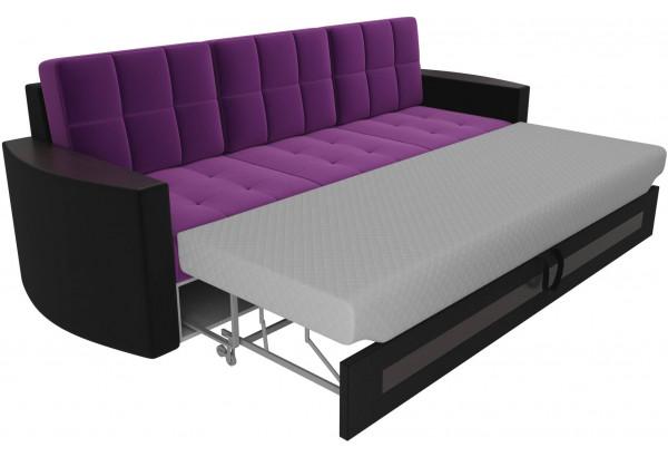 Диван прямой Белла Фиолетовый/Черный (Микровельвет) - фото 5