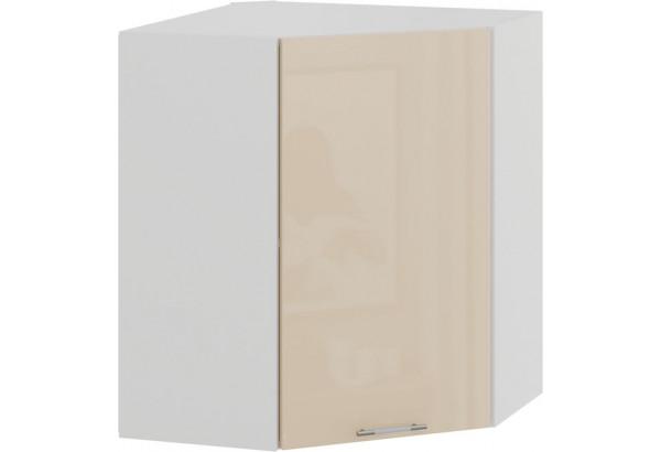 Шкаф навесной угловой «Весна» (Белый/Ваниль глянец) - фото 1