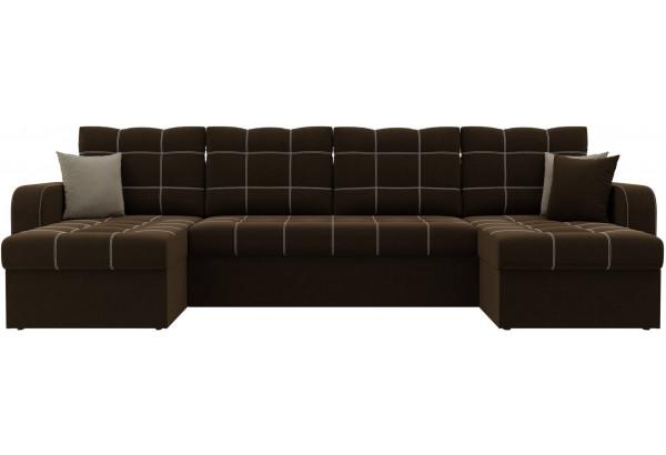 П-образный диван Ливерпуль Коричневый (Микровельвет) - фото 2