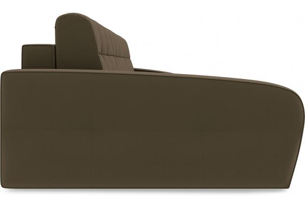 Диван угловой левый «Аспен Slim Т2» (Beauty 04 (велюр) коричневый) - фото 4
