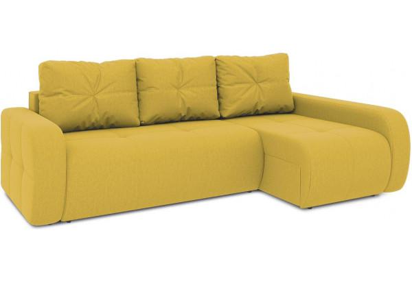 Диван угловой правый «Томас Т2» (Poseidon Curcuma (иск.замша) желтый) - фото 1