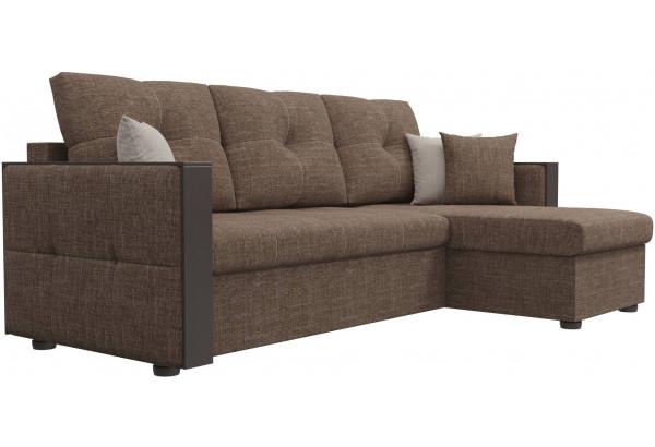 Угловой диван Валенсия Коричневый (Рогожка) - фото 3