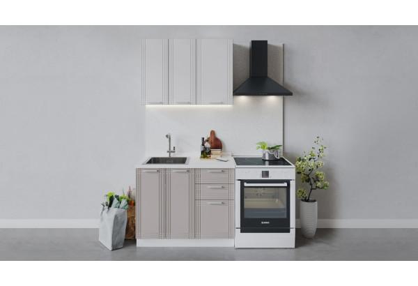 Кухонный гарнитур «Ольга» длиной 100 см (Белый/Белый/Кремовый) - фото 1