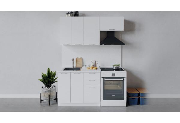 Кухонный гарнитур «Весна» длиной 160 см (Белый/Белый глянец) - фото 1