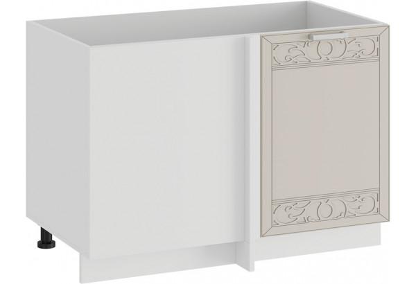 Шкаф напольный угловой «Долорес» (Белый/Крем) - фото 1