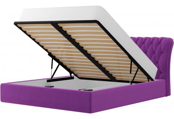 Интерьерная кровать Сицилия Фиолетовый (Микровельвет) - фото 2