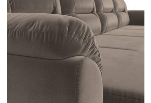 П-образный диван Бостон Коричневый (Велюр) - фото 4