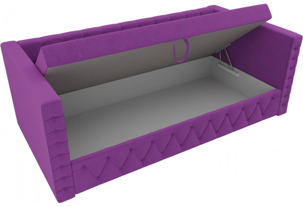 Детская кровать Таранто Фиолетовый (Микровельвет) - фото 5