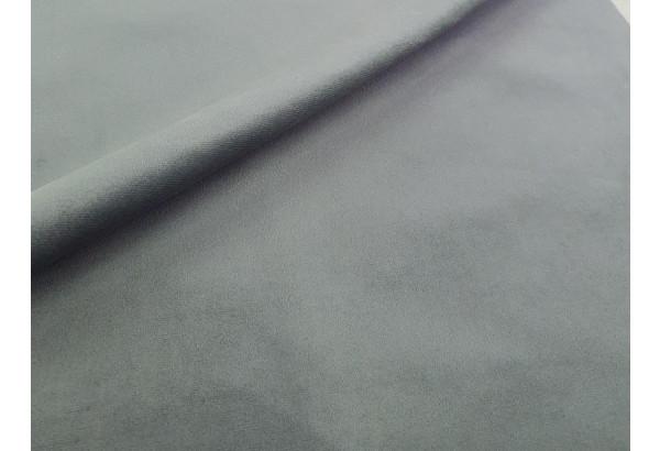 Диван прямой Карнелла Серый/черный (Велюр/Экокожа) - фото 6