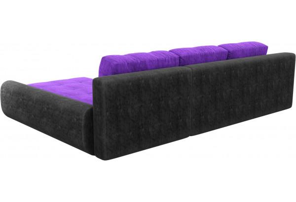 Угловой диван Анталина Фиолетовый/Черный (Велюр) - фото 5