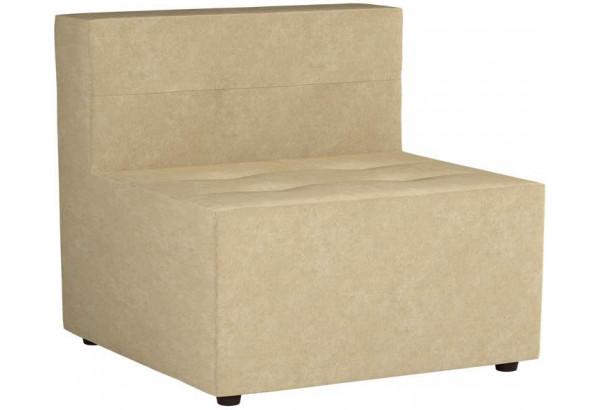 Модульный диван Домино Бежевый (Микровельвет) - фото 1