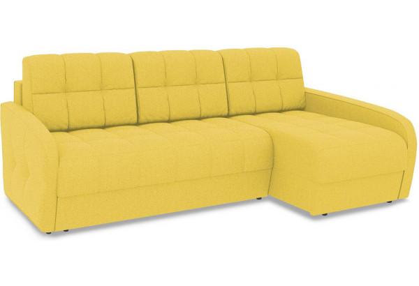Диван угловой правый «Аспен Slim Т2» (Neo 08 (рогожка) желтый) - фото 1