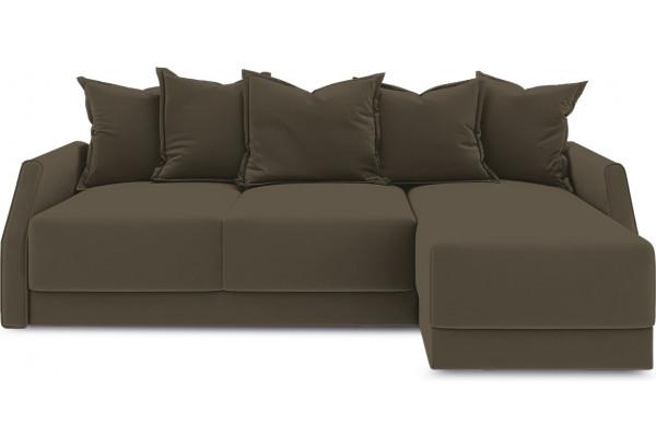 Диван угловой правый «Люксор Slim Т1» (Beauty 04 (велюр) коричневый) - фото 2