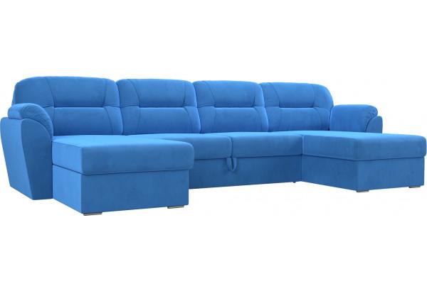П-образный диван Бостон Голубой (Велюр) - фото 1