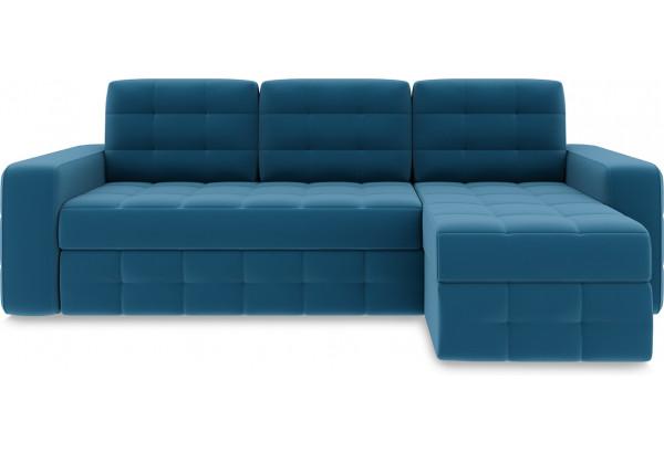 Диван угловой правый «Райс Т1» Beauty 07 (велюр) синий - фото 2