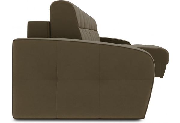 Диван угловой правый «Аспен Slim Т1» (Beauty 04 (велюр) коричневый) - фото 3