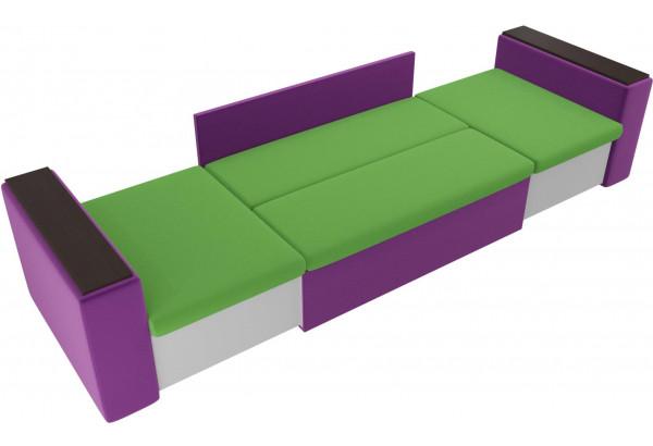 Детский диван Арси зеленый/фиолетовый (Микровельвет) - фото 5