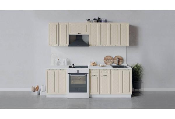 Кухонный гарнитур «Бьянка» длиной 240 см (Белый/Дуб ваниль) - фото 1