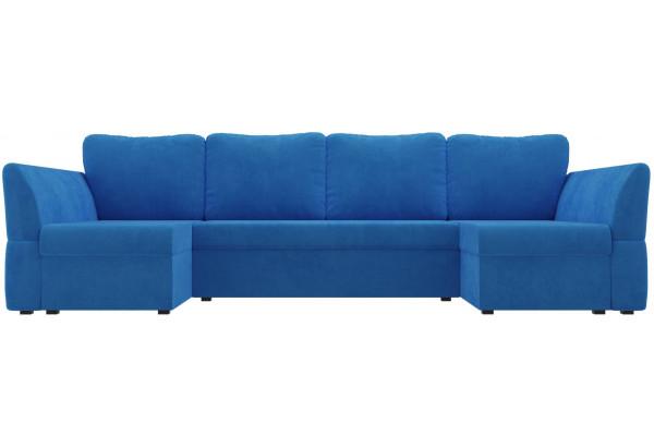 П-образный диван Гесен Голубой (Велюр) - фото 2