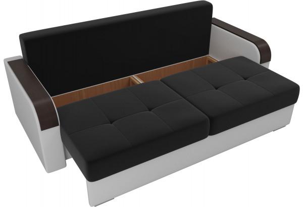 Прямой диван Мейсон Черный/Белый (Микровельвет/Экокожа) - фото 5