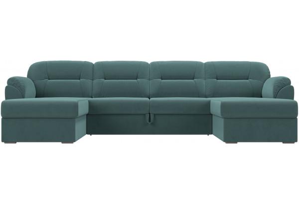 П-образный диван Бостон бирюзовый (Велюр) - фото 2
