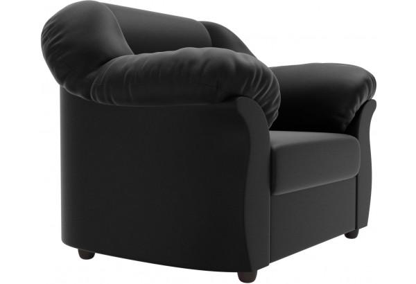 Кресло Карнелла Черный (Экокожа) - фото 3