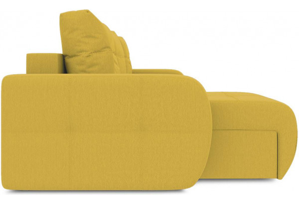 Диван угловой левый «Томас Slim Т1» (Poseidon Curcuma (иск.замша) желтый) - фото 5