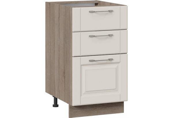 Шкаф напольный с 3-мя ящиками (СКАЙ (Бежевый софт)) - фото 1