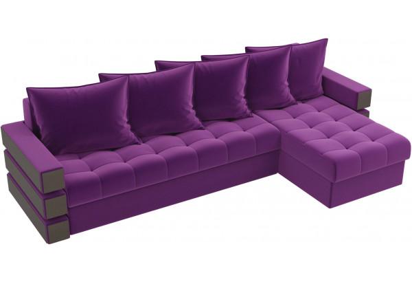 Угловой диван Венеция Фиолетовый (Микровельвет) - фото 4