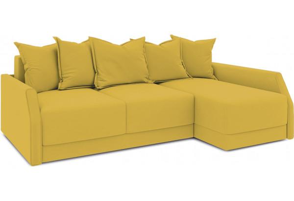 Диван угловой правый «Люксор Slim Т2» (Poseidon Curcuma (иск.замша) желтый) - фото 1