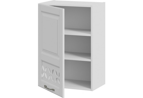Шкаф навесной c декором (левый) (СКАЙ (Белоснежный софт)) - фото 2