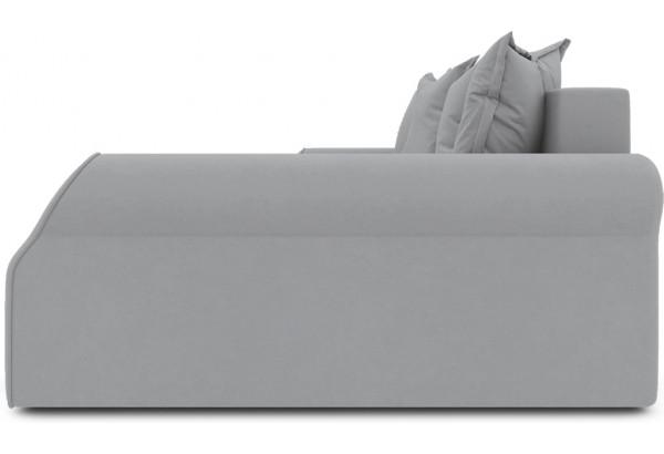 Диван угловой правый «Люксор Т2» (Poseidon Grey (иск.замша) серый) - фото 5