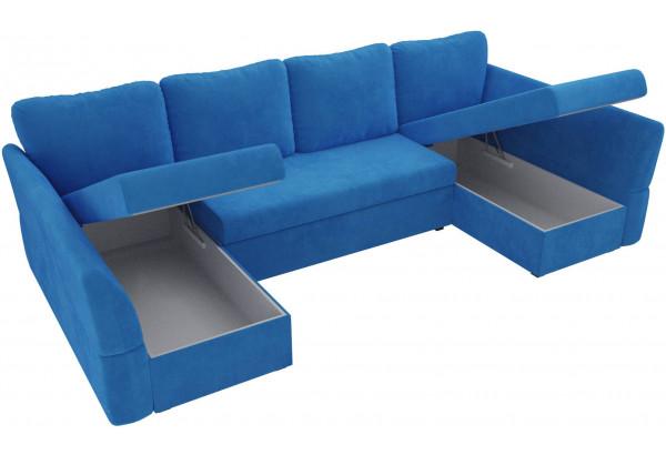 П-образный диван Гесен Голубой (Велюр) - фото 5
