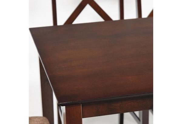 """Обеденный комплект эконом """"Хадсон"""" темный орех \ кор.-зол. (стол + 4 стула) - фото 2"""