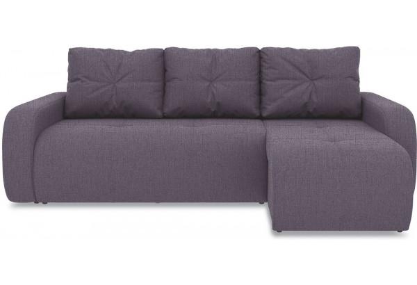 Диван угловой правый «Томас Т1» (Levis 68 (рогожка) Темно - фиолетовый) - фото 2