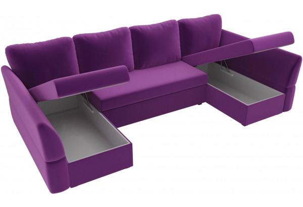 П-образный диван Гесен Фиолетовый (Микровельвет) - фото 5