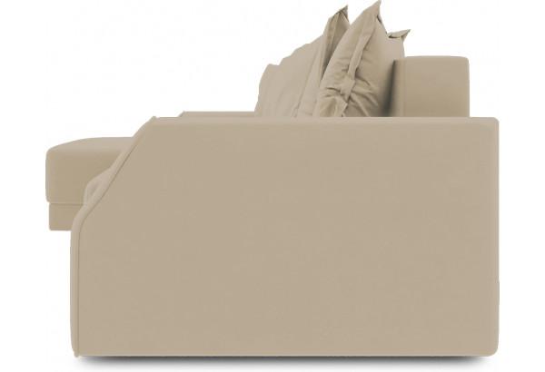 Диван угловой левый «Люксор Slim Т1» (Poseidon Latte (иск.замша) коричнево-бежевый) - фото 3