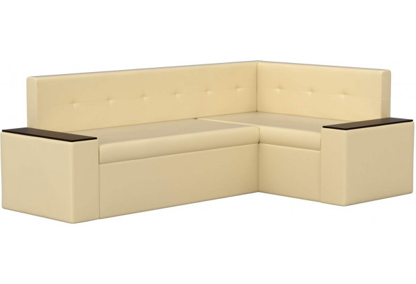 Кухонный угловой диван Остин Бежевый (Экокожа) - фото 1