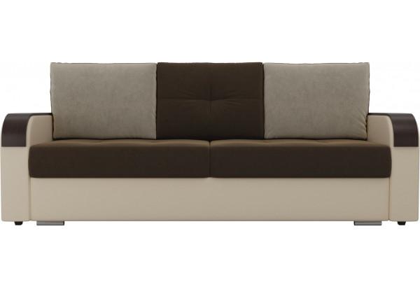 Прямой диван Мейсон Коричневый/Бежевый (Микровельвет/Экокожа) - фото 2