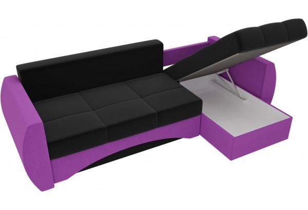 Угловой диван Сатурн черный/фиолетовый (Микровельвет) - фото 5