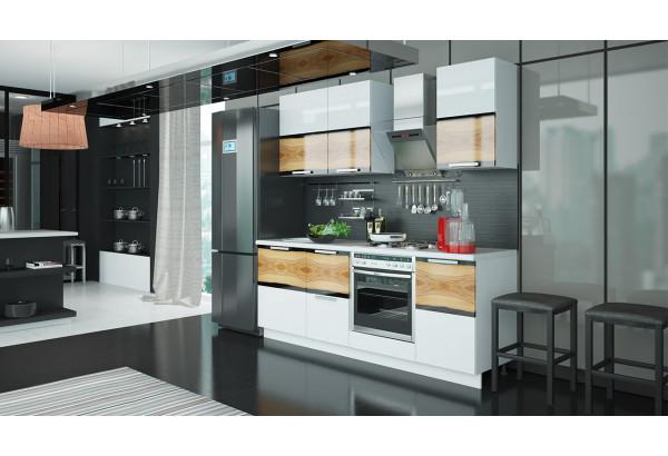 Кухонный гарнитур длиной - 210 см (со шкафом НБ) Фэнтези (Вуд) - фото 2
