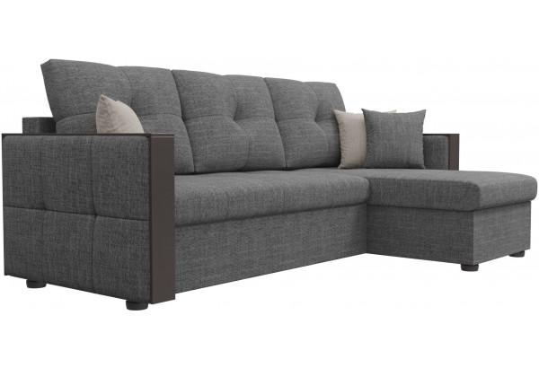 Угловой диван Валенсия Серый (Рогожка) - фото 3