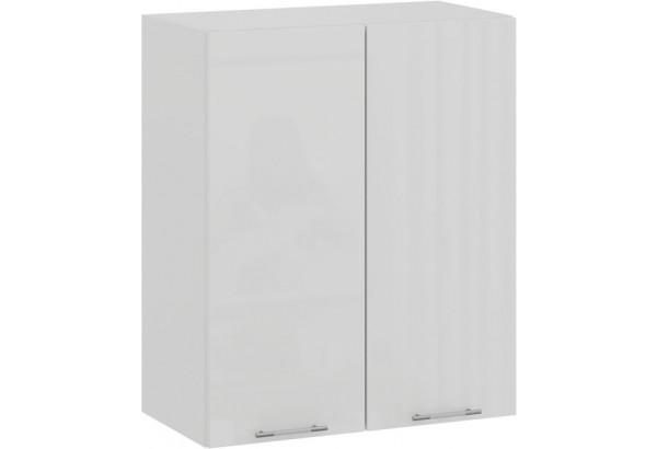 Шкаф навесной c двумя дверями «Весна» (Белый/Белый глянец) - фото 1