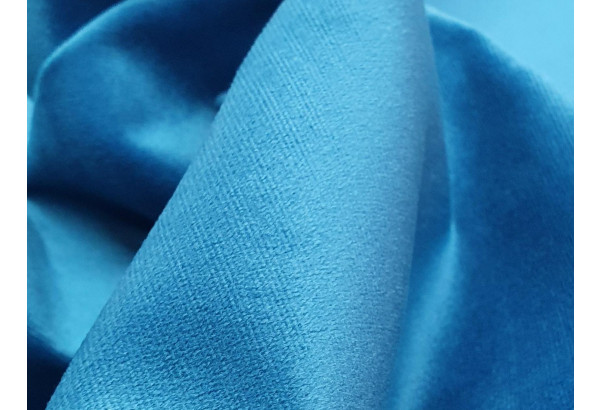 П-образный диван Честер черный/голубой (Велюр) - фото 11