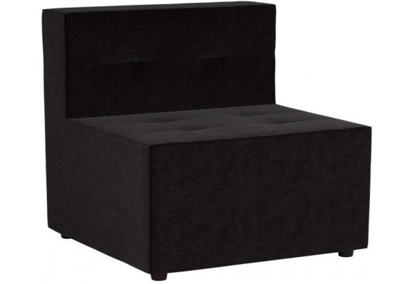 Модульный диван Домино Черный (Микровельвет) - фото 1