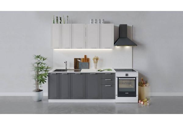 Кухонный гарнитур «Ольга» длиной 180 см (Белый/Белый/Графит) - фото 1