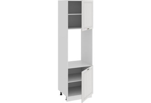 Шкаф-пенал под бытовую технику с двумя дверями «Лина» (Белый/Белый) - фото 2