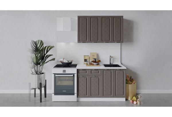Кухонный гарнитур «Бьянка» длиной 120 см (Белый/Дуб серый) - фото 1